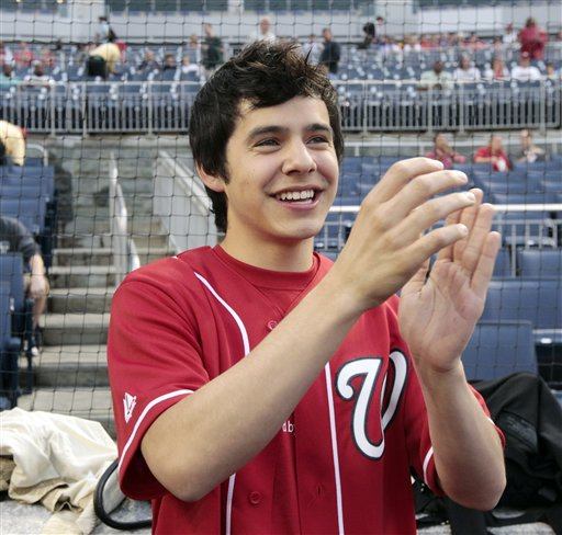 David Archuleta Washington Capitols Game~ credit AP~