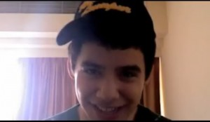 david archuleta baseball cap screencap vlog