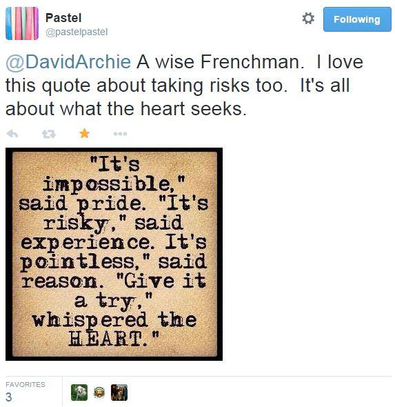 tweet pastel re Andres's quote