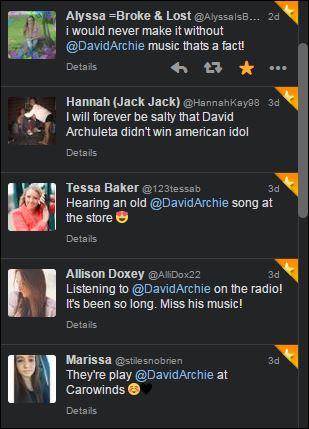david tweets