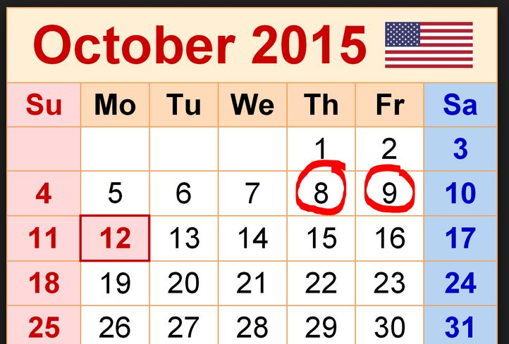 oct 8 and 9