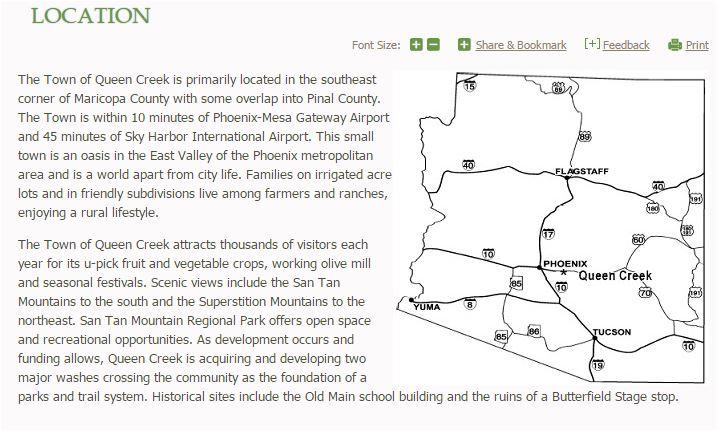 Queen Creek AZ location