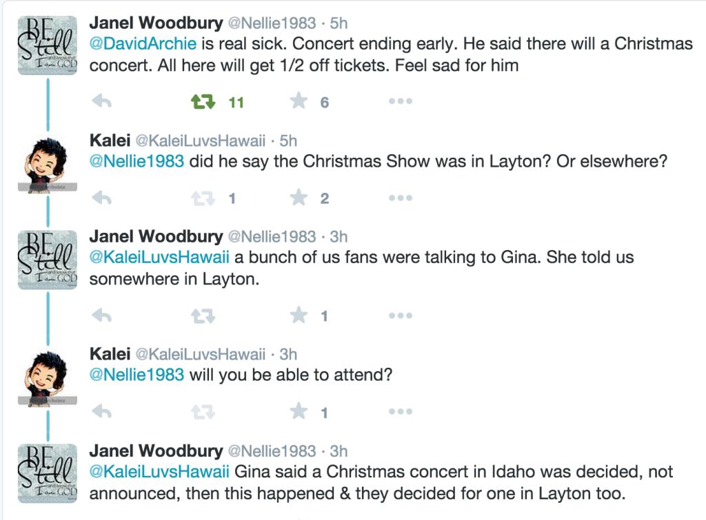 Janel Xmas Concerts