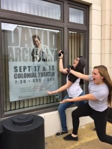 david archuleta sign Idaho Falls girls freak out credit shelley Fans of David