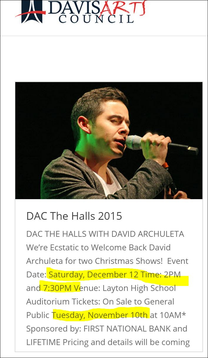 dac the halls vertical ad