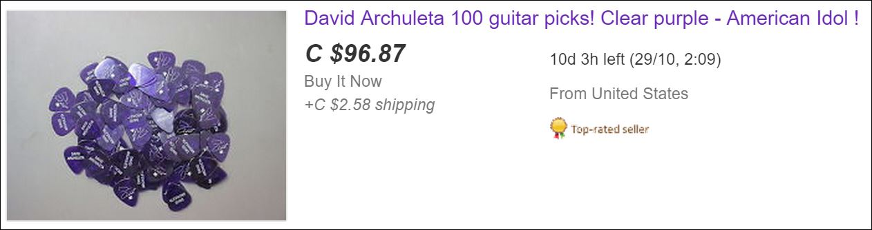 purple guitar pics