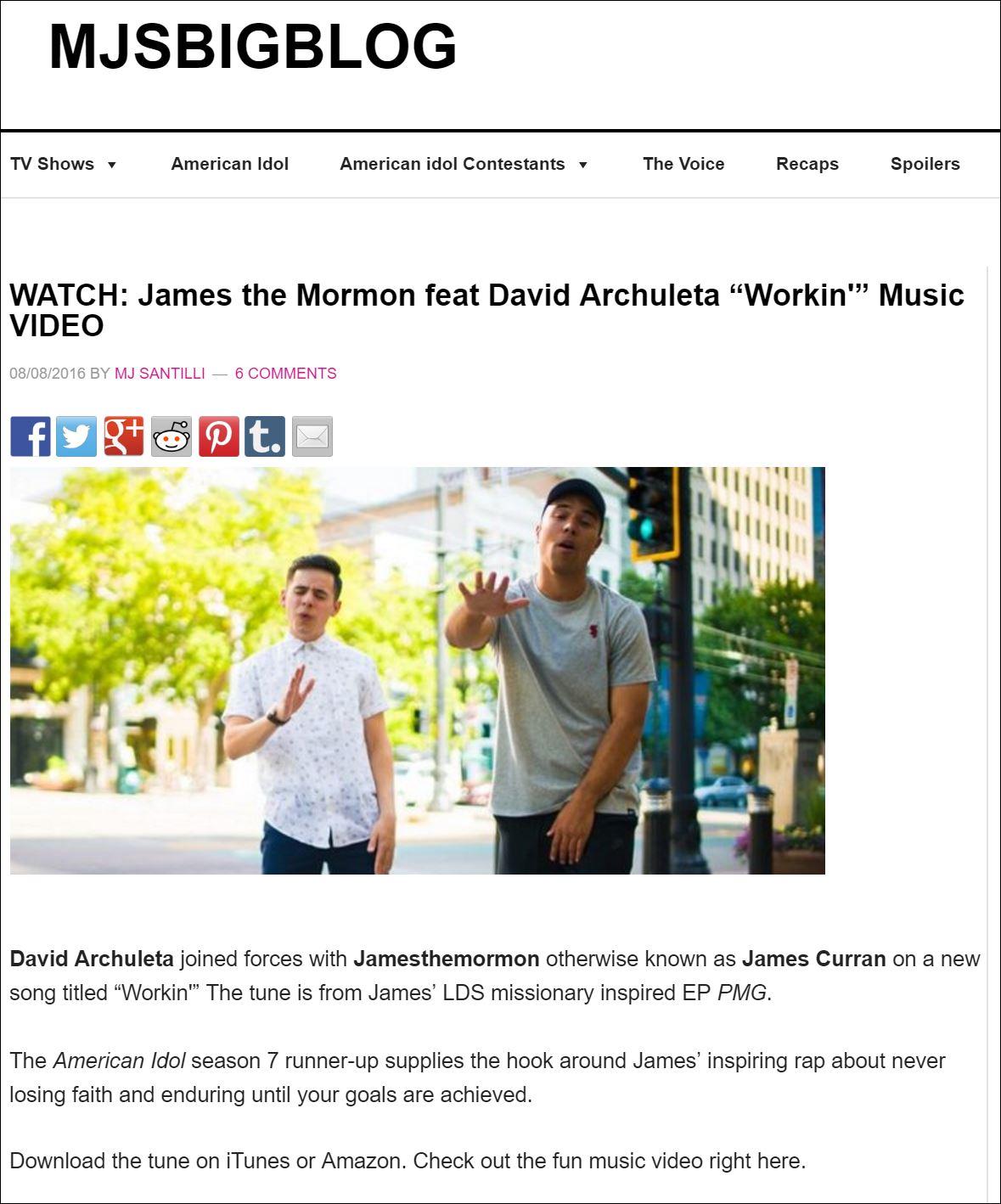 mjs big blog workin - Fans of David ArchuletaFans of David Archuleta