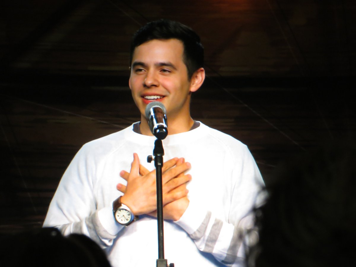 David Archuleta crosses his arms across his chest at TOFW credit goes to Lily