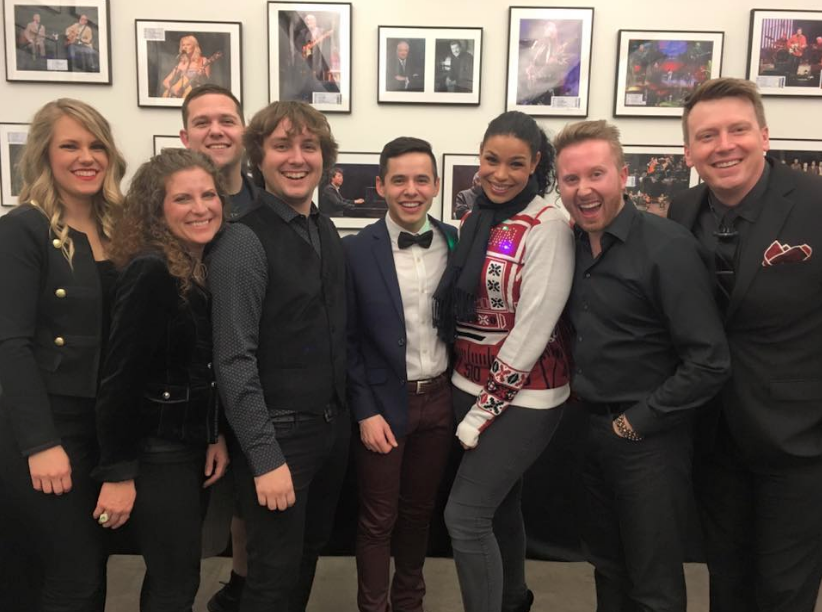 David Archuleta, Jordin Sparks, and the band in Mesa (but where's Aaron?) ~credit Bobby James on fb and IG