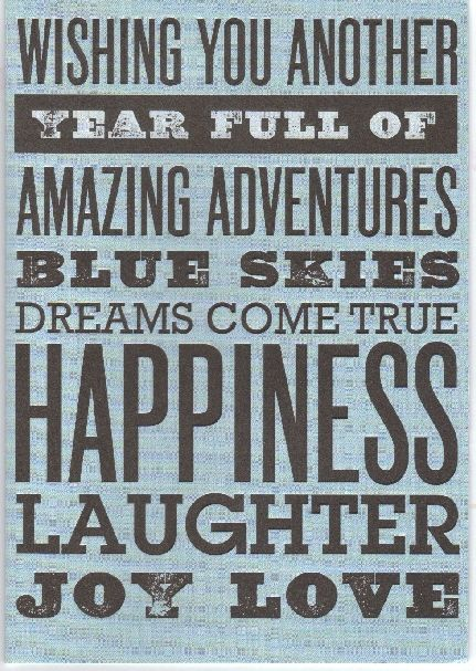 Quote wishing you another year full of amazing adventures
