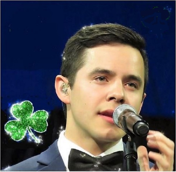 David Archuleta Christmas Tour credit Shelley St PAtrick's Day shamrock edit