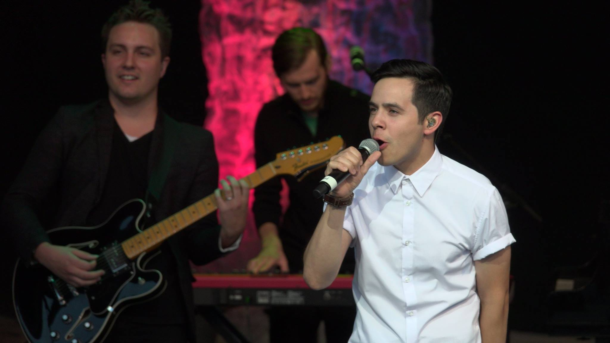 David Archuleta at the Sandy Ampitheater with Brady Bills and Chad Truman from the Sandy Amphitheater FB page