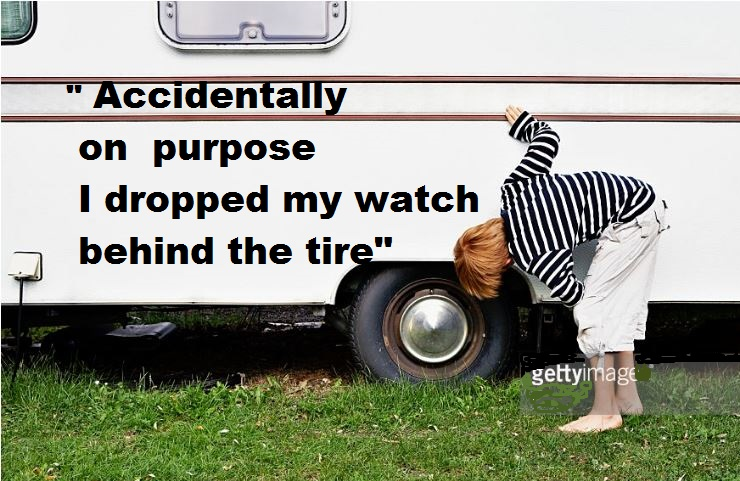 daylight savings time meme watch behind a tire