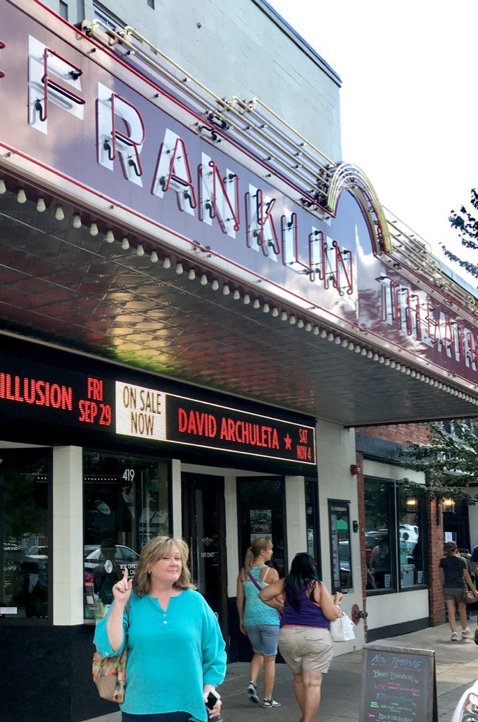 David Archuleta Franklin Theater marquee credit PaulaFOD