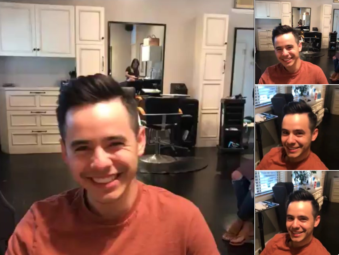 David Archuleta Haircut Collage