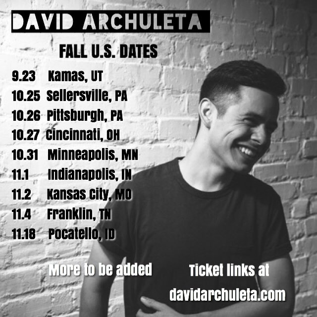 Picture of David Archuleta October and November Tour Dates