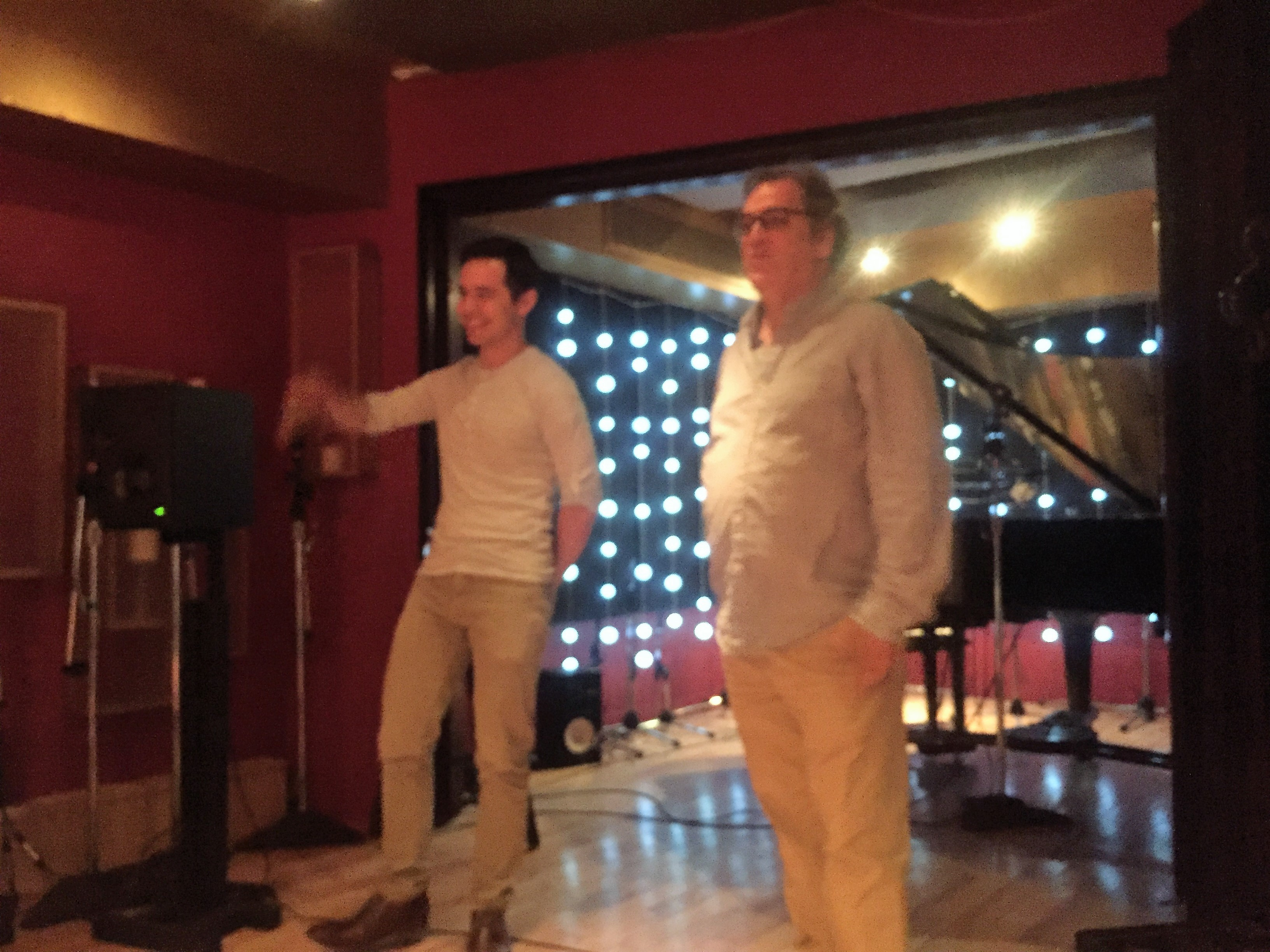Vince Degriogio introducing David Archuleta at the CymbaMusic Hosted Listening Party Aug 2017