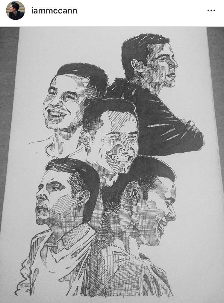 Beautiful ink drawing from @iammcann_ of David Archuleta