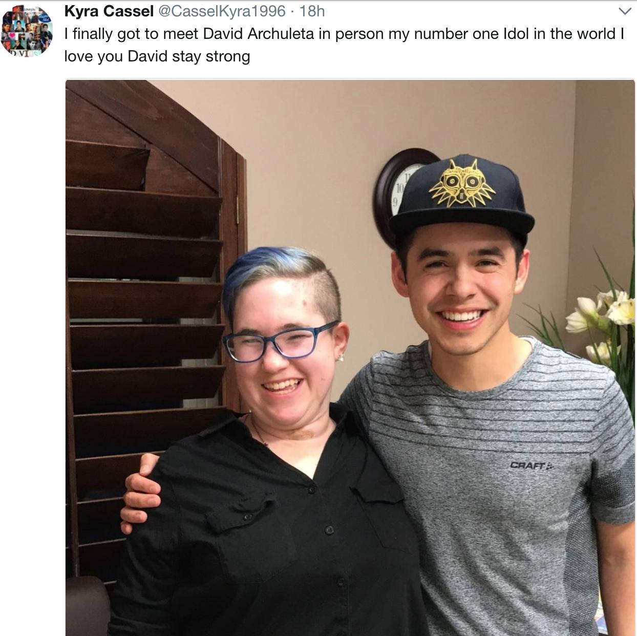 Kyra Cassel meets David Archuleta