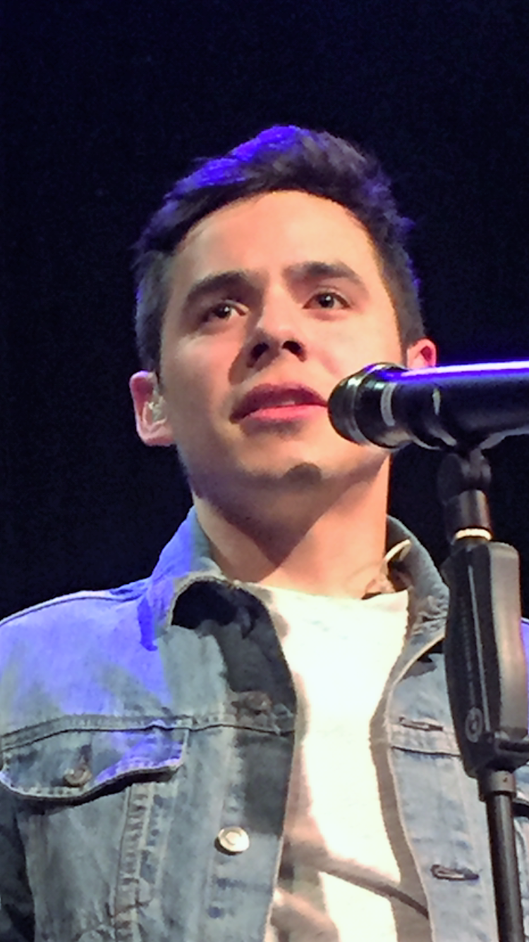 David Archuleta looks out at the audience at the Cedar Cultural Center Oct 31 during his concert there