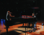 David Archuleta on stage with Madylin Paige credit David