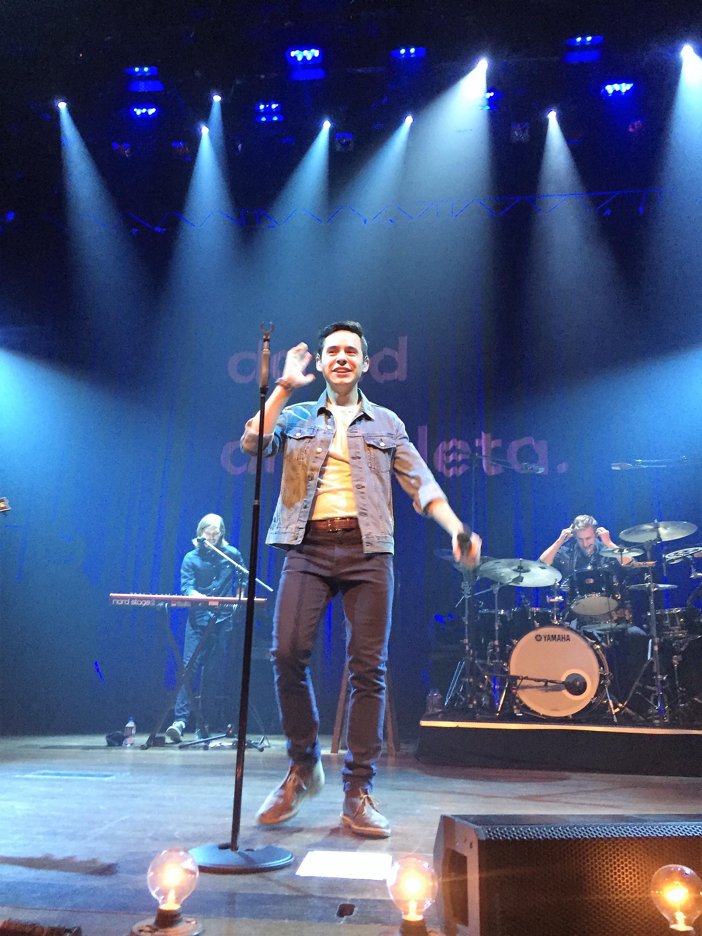 David Archuleta walking onstage in Franklin Tennessee