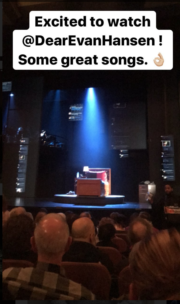 Dear Evan Hansen Music Box Theater in NYC
