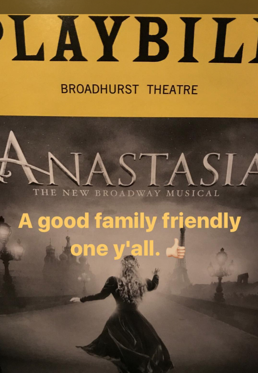 NYC Anastasia Playbill