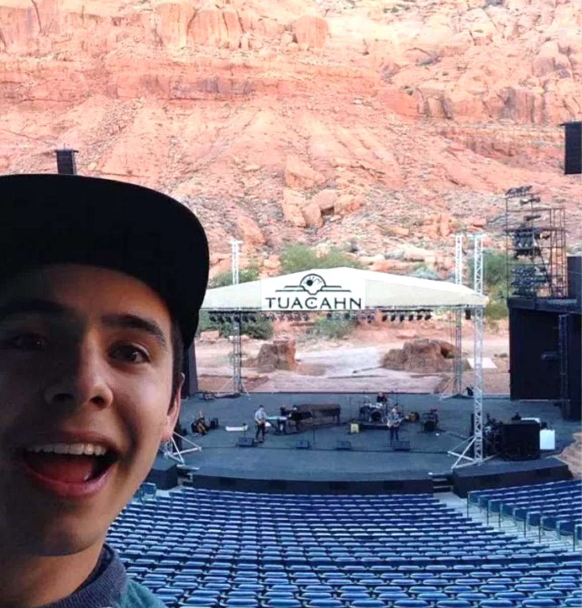 Tuacahn David ARchuleta showing us the amphitheater 2015