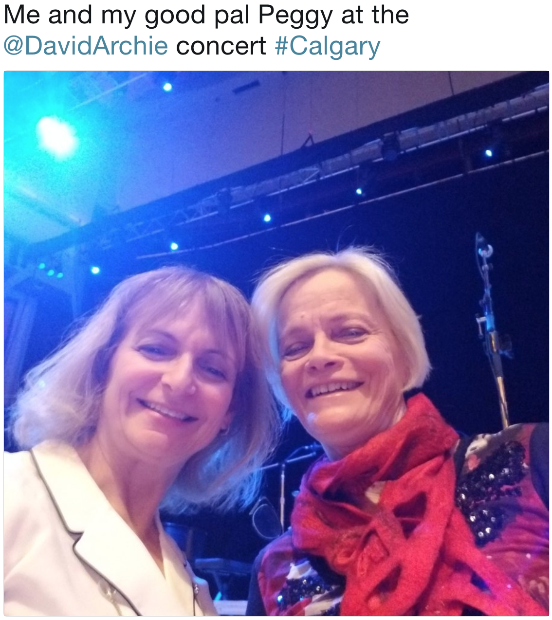 Mary Lou and friend Peggy- Calgary- David show