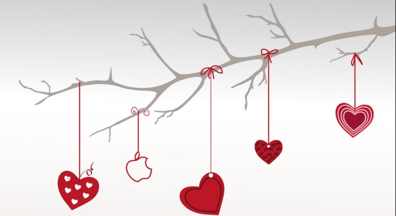 Hearts on a branch