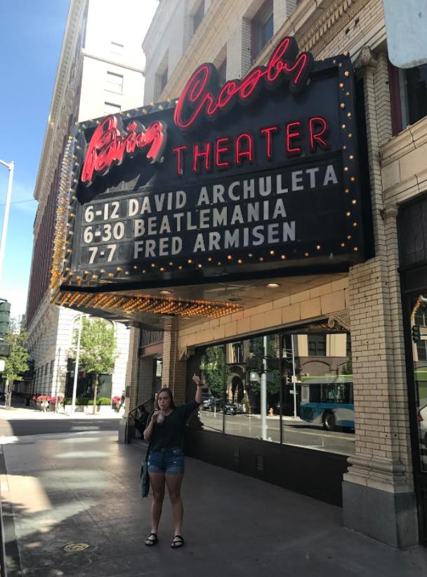 Bing Crosby Theater Spokane Washington with Veronica